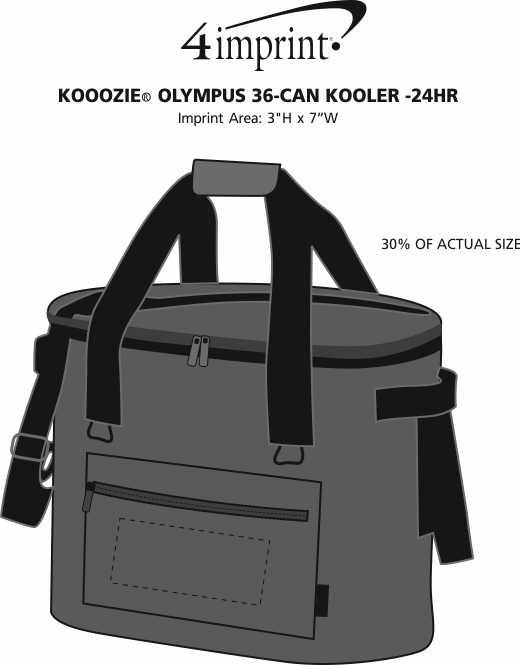 Imprint Area of Koozie® Olympus 36-Can Kooler - 24 hr