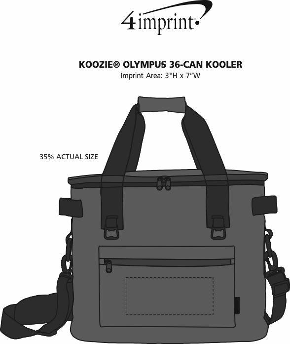 Imprint Area of Koozie® Olympus 36-Can Kooler
