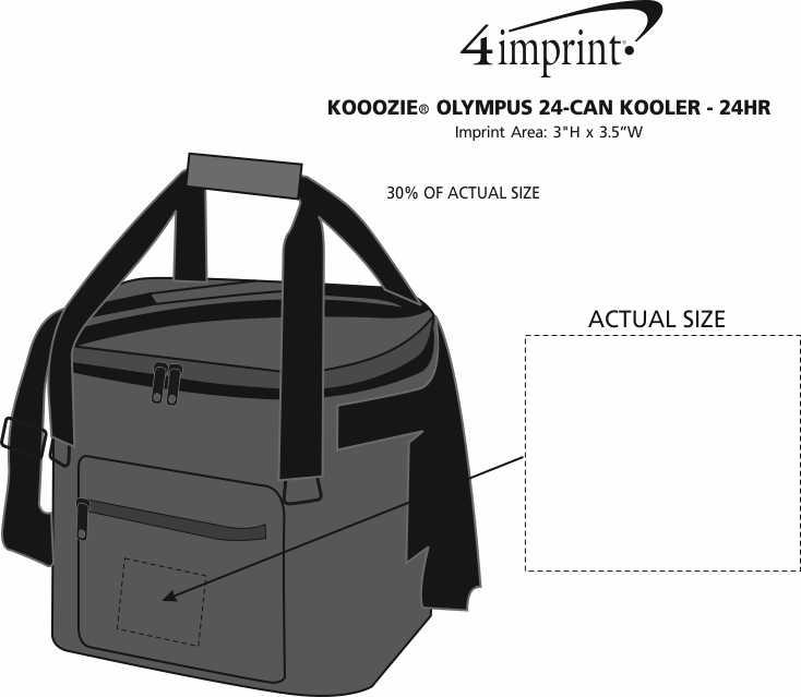 Imprint Area of Koozie® Olympus 24-Can Kooler - 24 hr