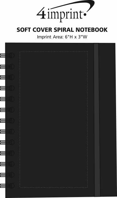 Imprint Area of Soft Cover Spiral Notebook