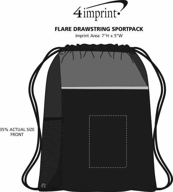 Imprint Area of Flare Drawstring Sportpack
