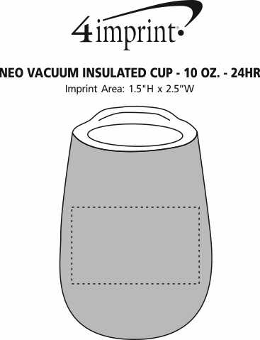 Imprint Area of Neo Vacuum Insulated Cup - 10 oz. - 24 hr