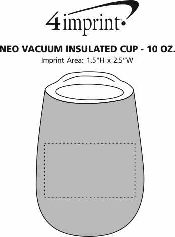 Imprint Area of Neo Vacuum Insulated Cup - 10 oz.