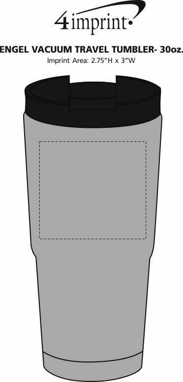 Imprint Area of Engel Vacuum Travel Tumbler - 30 oz.