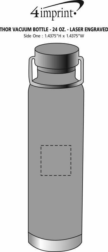 Imprint Area of Thor Vacuum Bottle - 24 oz. - Laser Engraved