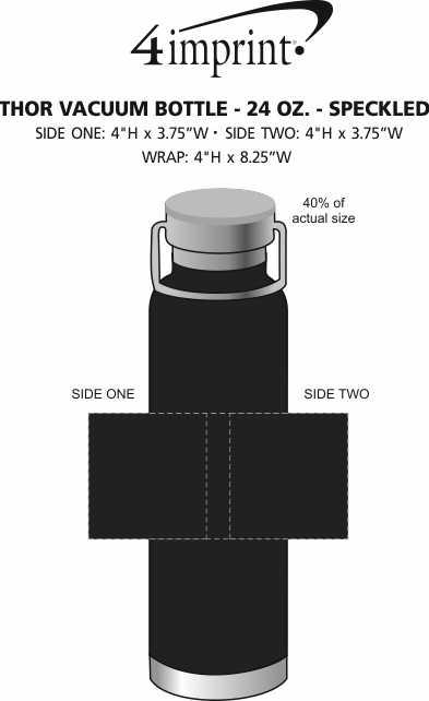 Imprint Area of Thor Vacuum Bottle - 24 oz. - Speckled