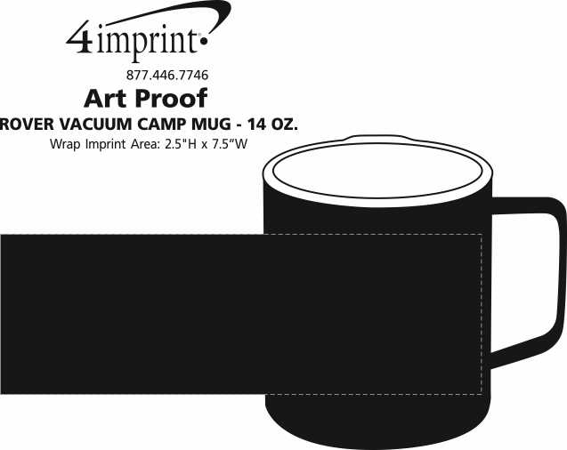 Imprint Area of Rover Vacuum Camp Mug - 14 oz. - 24 hr