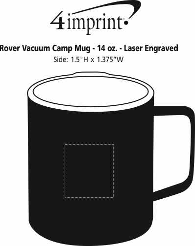 Imprint Area of Rover Vacuum Camp Mug - 14 oz. - Laser Engraved