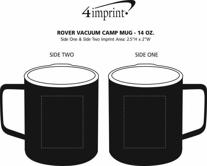 Imprint Area of Rover Vacuum Camp Mug - 14 oz.
