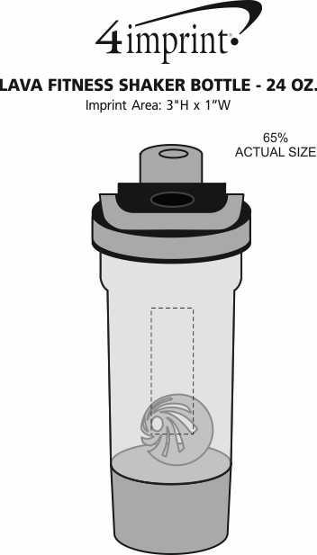 Imprint Area of Lava Fitness Shaker Bottle - 24 oz.