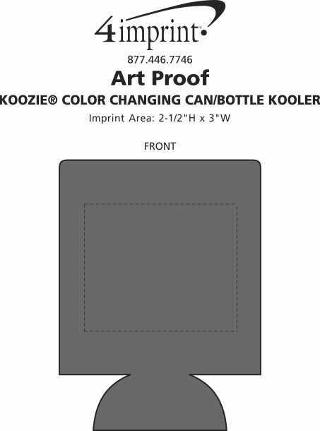 Imprint Area of Koozie® Color Changing Can/Bottle Kooler