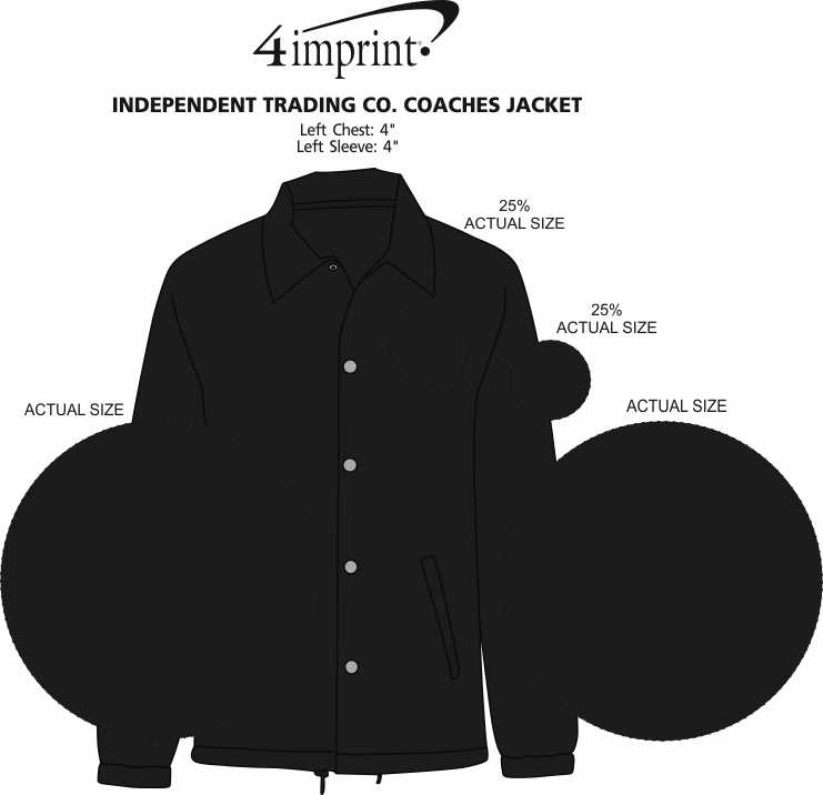 Imprint Area of Independent Trading Co. Coaches Jacket