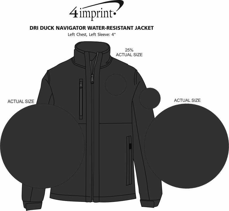 Imprint Area of DRI DUCK Navigator Water-Resistant Jacket