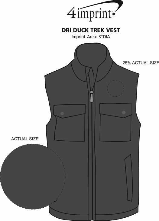 Imprint Area of DRI DUCK Trek Vest