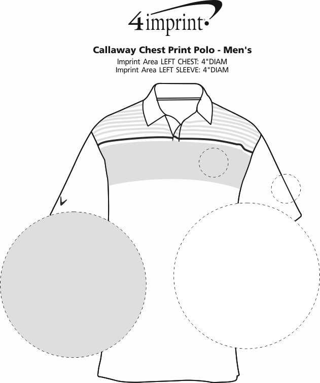 Imprint Area of Callaway Chest Print Polo - Men's