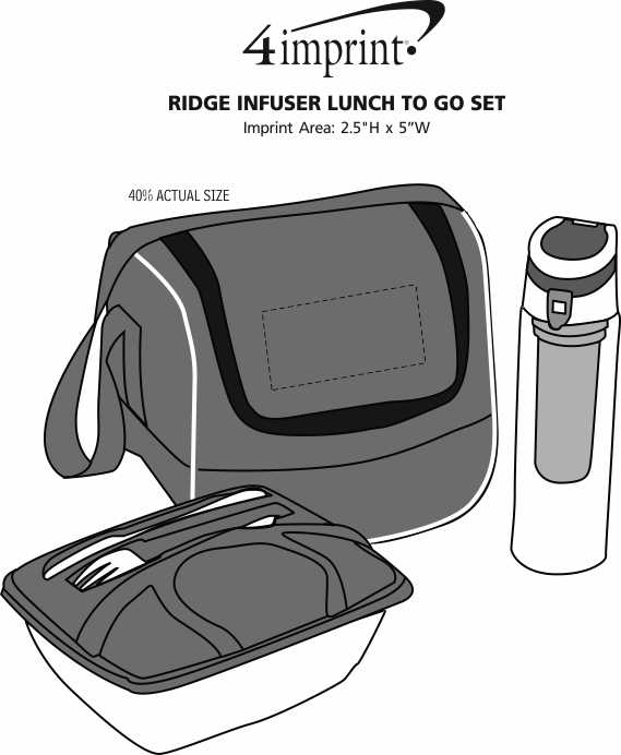 Imprint Area of Ridge Infuser Lunch To Go Set