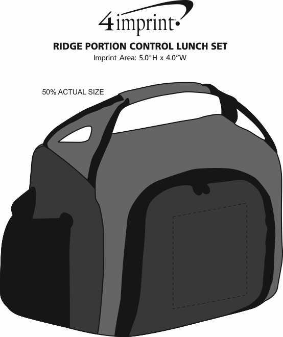 Imprint Area of Ridge Portion Control Lunch Set