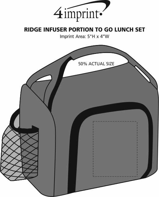 Imprint Area of Ridge Infuser Portion To Go Lunch Set