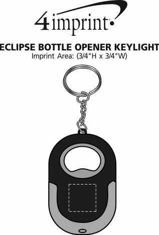 Imprint Area of Eclipse Bottle Opener Key Light
