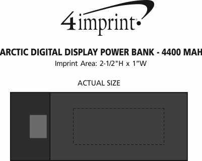 Imprint Area of Arctic Digital Display Power Bank - 4400 mAh