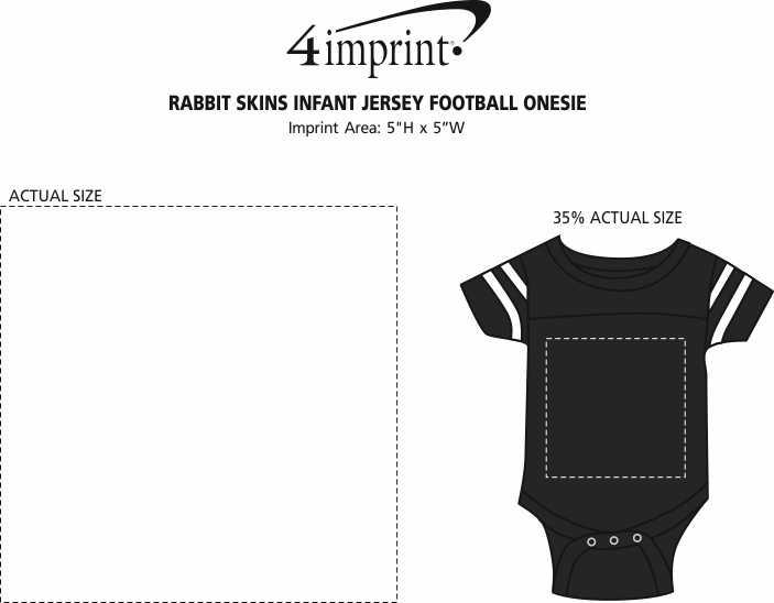 Imprint Area of Rabbit Skins Infant Jersey Football Onesie