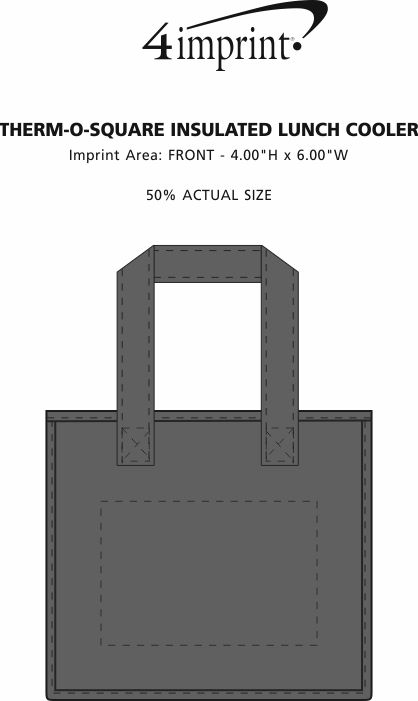 Imprint Area of Therm-O Square Insulated Lunch Cooler