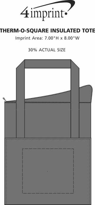 Imprint Area of Therm-O Super Square Insulated Tote