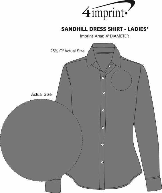 Imprint Area of Sandhill Dress Shirt - Ladies'
