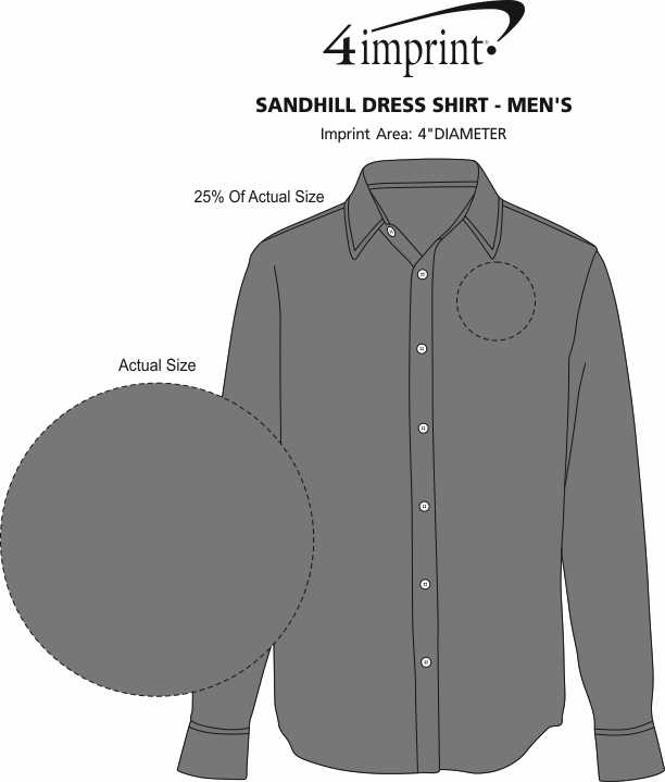 Imprint Area of Sandhill Dress Shirt - Men's