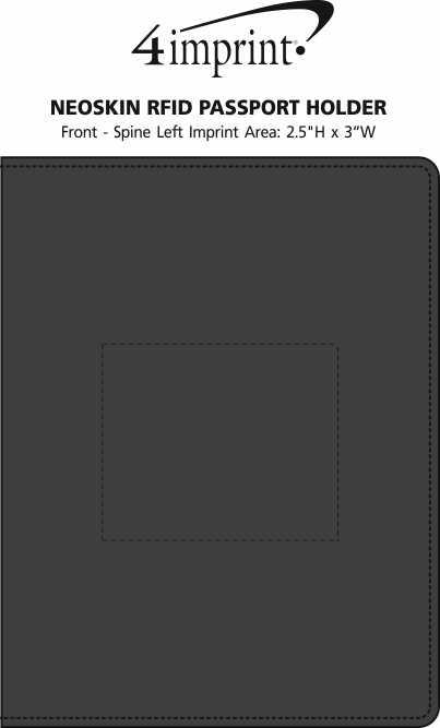 Imprint Area of Neoskin RFID Passport Holder