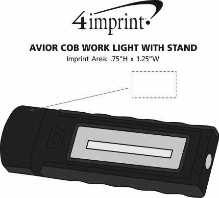 Imprint Area of Avior COB Work Light with Stand