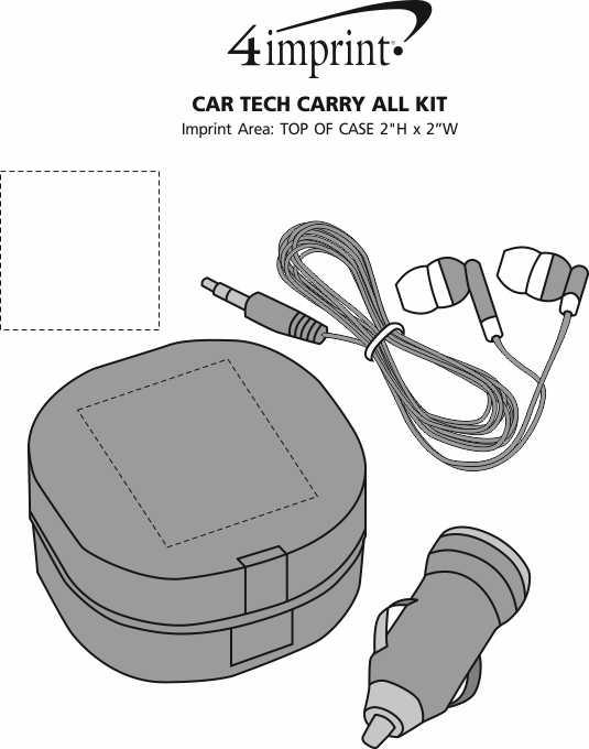 Imprint Area of Car Tech Carry All Kit