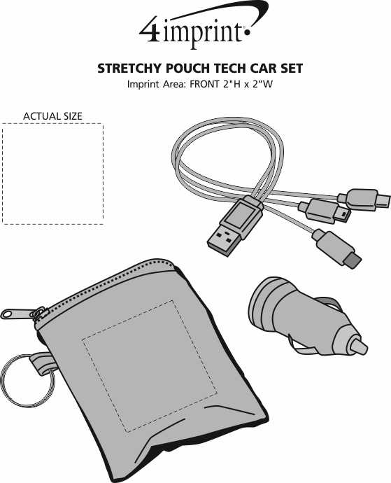 Imprint Area of Stretchy Pouch Tech Car Set