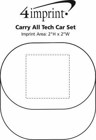 Imprint Area of Carry All Tech Car Set