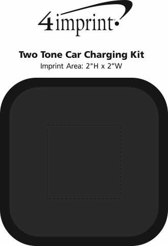 Imprint Area of Two Tone Car Charging Kit