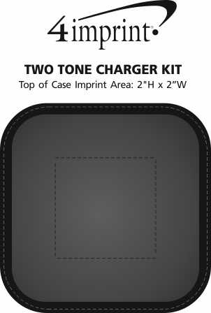Imprint Area of Two Tone Charger Kit