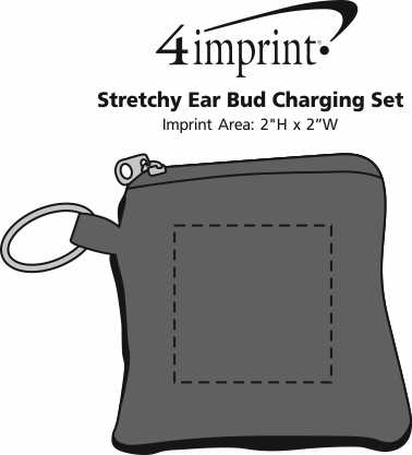 Imprint Area of Stretchy Ear Bud Charging Set