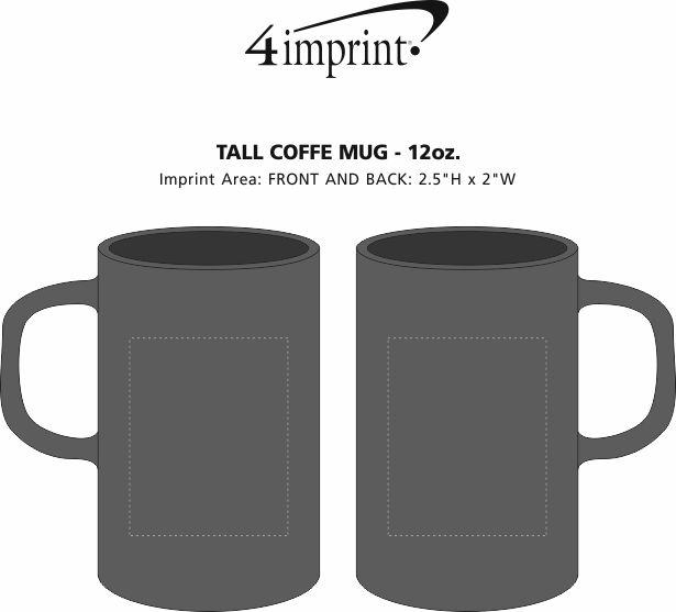 Imprint Area of Tall Coffee Mug - 12 oz.