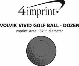 Imprint Area of Volvik Vivid Golf Ball - Dozen