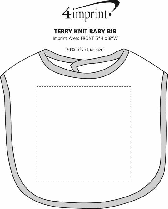 Imprint Area of Terry Knit Baby Bib
