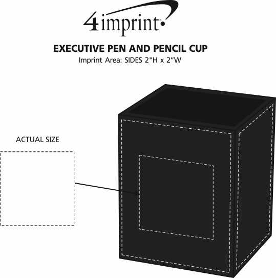 Imprint Area of Executive Pen and Pencil Cup