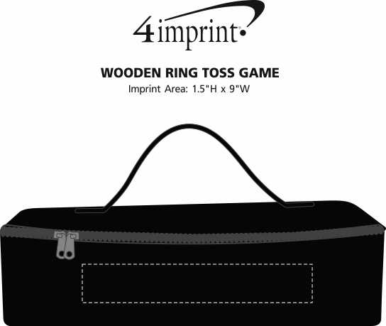 Imprint Area of Wooden Ring Toss Game
