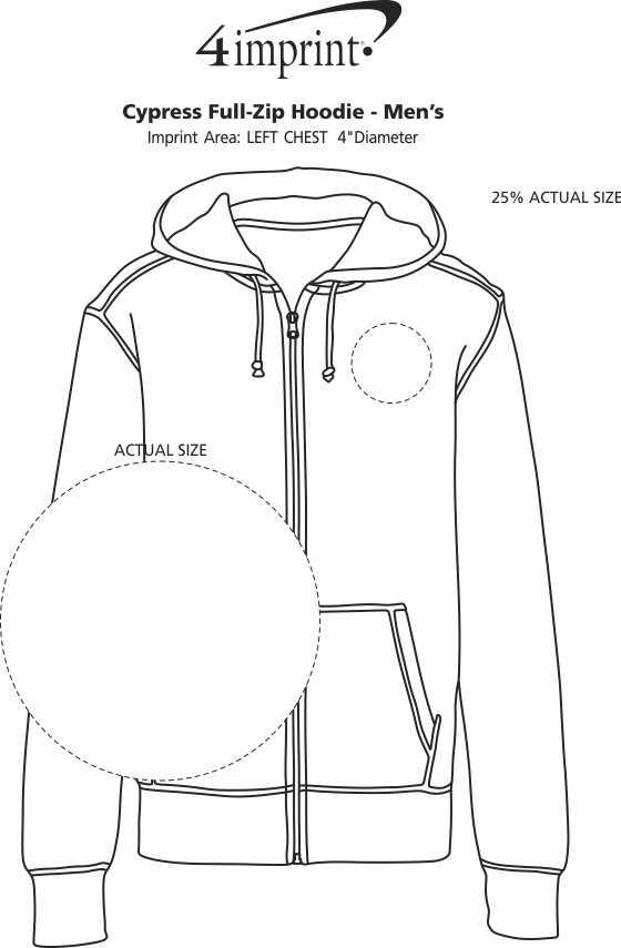 Imprint Area of Cypress Full-Zip Hoodie - Men's