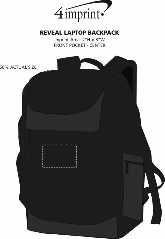 Imprint Area of Reveal Laptop Backpack