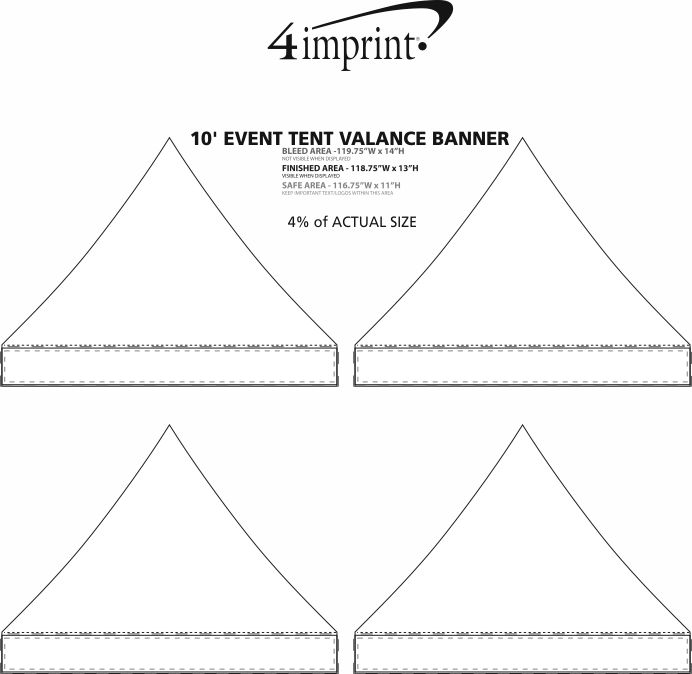 Imprint Area of 10' Event Tent Valance Banner