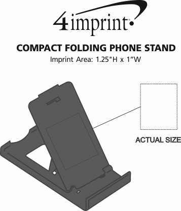 Imprint Area of Compact Folding Phone Stand