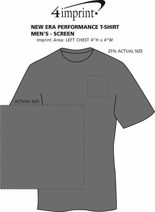 Imprint Area of New Era Performance T-Shirt - Men's - Screen