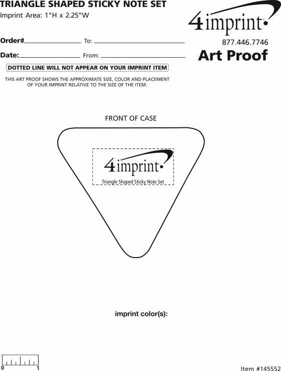 Imprint Area of Triangle Sticky Note Set