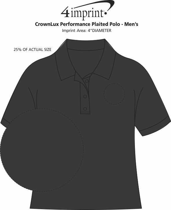 Imprint Area of CrownLux Performance Plaited Pocket Polo - Men's