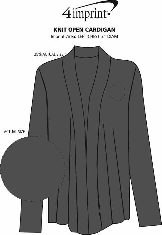 Imprint Area of Knit Open Cardigan